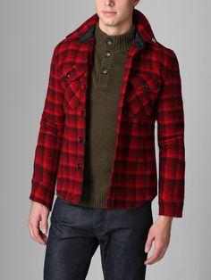 Wool Plaid Shirt Jacket by Fidelity Sportswear