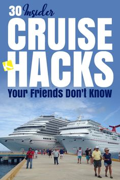 30 Insider Cruise Hacks Your Friends Don't Know - We know all the secrets and want to share them with you! Be prepared to save hundreds on your next cruise! cruise travel tips for beach vacation from south florida miami Bahamas Cruise, Cruise Port, Cruise Travel, Cruise Vacation, Vacation Travel, Vacations, Honeymoon Cruises, Vacation Nails, Shopping Travel