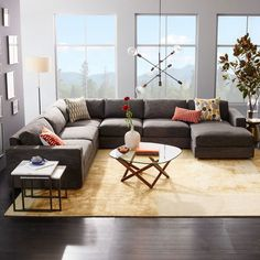 Living room Rug West Elm Living Room - West Elm Living Room Sectional