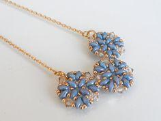 Blue Sea Necklace Beadweaving handmade Necklace by lizaluksenberg, $38.00