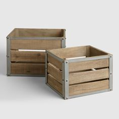 Corral your clutter with our Sebastian Crates. Inspired by apple crates during fall harvest, these sturdy wooden boxes offer up plenty of rustic charm with a touch of industrial edge. >> Storage and Organization Cube Storage, Storage Baskets, Storage Bins, Kayak Storage, Wire Baskets, Small Storage, Storage Solutions, Storage Ideas, Wooden Crates