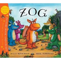 """Zog - """"The Julia Donaldson and Axel Scheffler dream team returns with the tale of Zog, a keen yet accident-prone dragon… Look out for cameos from The Gruffalo in Scheffler's rich illustrations."""" Independent on Sunday Julia Donaldson Books, Axel Scheffler, Dragon Tales, Mighty Girl, The Gruffalo, Dragon Knight, Children's Picture Books, Held, Gold Stars"""