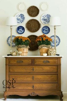 Fall Vignette | Blue & White