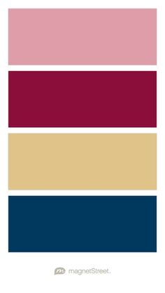 Blush, Burgundy, Gold, and Navy Wedding Color Palette - custom color palette created at MagnetStreet.com