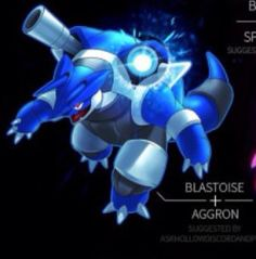 Blastoise and aggron
