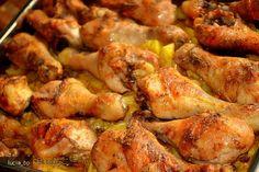 Reteta Ciocanele de Pui Marinate si Legume, la Cuptor din Carte de bucate, Mancaruri cu carne. Specific Romania. Cum sa faci Ciocanele de Pui Marinate si Legume, la Cuptor Chicken Wings, Lasagna, Sprouts, Shrimp, Curry, Cooking Recipes, Meat, Vegetables, Gastronomia