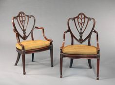 A Pair of George III Mahogany Armchairs Attributed to Gillow of Lancaster