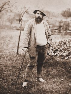 Claude Monet, age 49, six years after arriving at Giverny, 1889. Monet painted almost 2,000 paintings in his over seven-decade career.