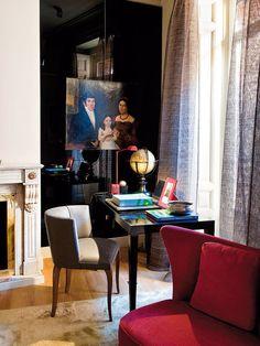 DECOR ;INTERIORS ; ART ; Un escritorio en el salón