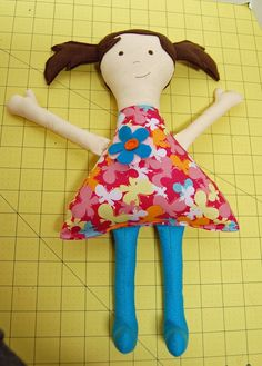 Quick and Easy Fabric Doll tutorial