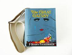 The Great Gatsby Book Bag F. Scott Fitzgerald by krukrustudio