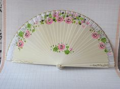 Hand fan Asia Hand painted color fan #fan