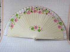 Hand fan Asia Hand painted color fan #fan