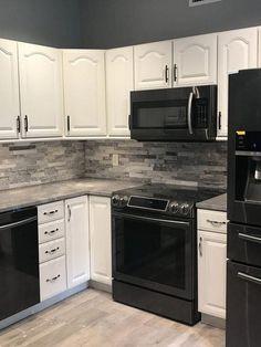 Best Black Stainless Kitchenaid Appliances White Cabinets 400 x 300