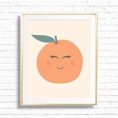 Orange Clementine Nursery Art Print Printable Little Cutie | Etsy Nursery Art, Bee Nursery, Nursery Wall Decor, Nursery Themes, Classroom Wall Decor, Playroom Art, Orange Party, Baby Monogram, Clementine Art