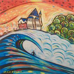 Biarritz surf by Phillip Morrison