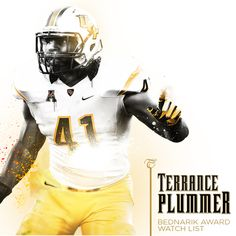MLB Terrance Plummer appeared on the watch list for the best defensive player in the country. Ucf Football, Ucf Knights, Mlb, Watch, Country, Black, Clock, Rural Area, Black People