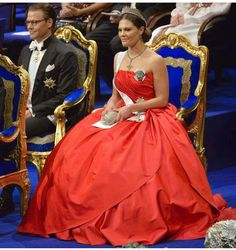 26d95eb9b2c7 The beautiful Crown Princess Victoria of Sweden in an amazing dress or ball  gown made in