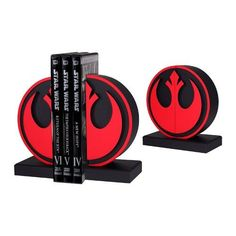 Star Wars Rebel Seal Bookends In Use