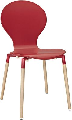 LexMod Path Dining Chair, Red Best Price