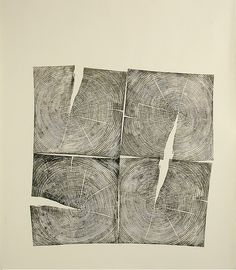 four-square - by Bryan Nash Gill, relief print