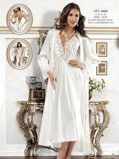 New Night Gecelik Sabahlık Takımı | Kadın İç Giyim | FantaziGiyim.Com.tr #fantazigiyimcomtr