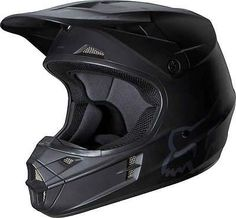 2014 Fox Racing V1 Matte Black Motocross MX Dirtbike ATV Adult Mens Helmet Snell