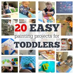 Toddler activities! Lots of art project ideas for toddlers.