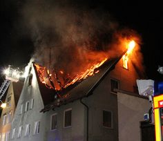 18-06-2013 memmingen altstadt dachstuhlbrand gerberstrasse feuerwehr ...