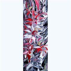 "Daily+Paintworks+-+""Flowers+Reflection+II""+-+Original+Fine+Art+for+Sale+-+©+Khrystyna+Kozyuk"