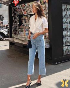 """Splice Boutique on Instagram: """"....Thursday morning boutique tour ?? Jump on over to our stories and let us know if there is anything you would like to see, in more…"""" Simple and chic Parisian style<br> Street Style Outfits, Casual Outfits, Casual Jeans, Plad Outfits, Casual Attire, Street Outfit, Office Outfits, Sweater Outfits, Casual Dresses"""