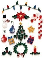 """Le decorazioni di Natale.  Pacchettini di Natale.  Dolci decori.  Chiudipacco.  La tecnica del """"Quilling"""""""