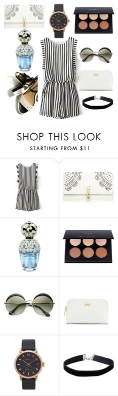 """Sassy monochrome"" by anyaaa04 on Polyvore featuring Chicnova Fashion, Lipsy, Marc Jacobs, Ted Baker, Miss Selfridge, fashionblogger and beautyblogger"