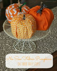 gallamore west: No-Sew Fabric Pumpkins with #Cottonelle