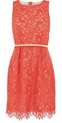 This would be an awesome rehearsal dinner dress. really love the color, the fact that its lace, and how pretty it is.