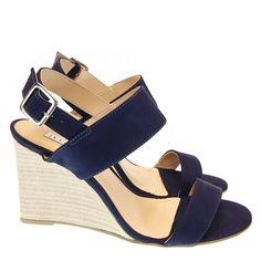 Sandália Azul Dark 8681 Lia Line   Moselle sapatos finos femininos! Moselle sua boutique online.