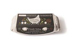 Otiaka Valley Free Range Eggs, Egg Carton Label Design by Dessein, Australia