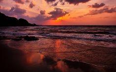 cool sunset, fresh sea evening