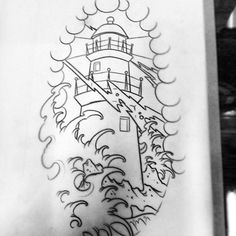 Find the perfect tattoo artist to create the work of art that is you Traditional Lighthouse Tattoo, Traditional Tattoo Design, Traditional Ink, Tattoo Design Drawings, Tattoo Sketches, Tattoo Designs, Dibujos Tattoo, Desenho Tattoo, Neo Tattoo