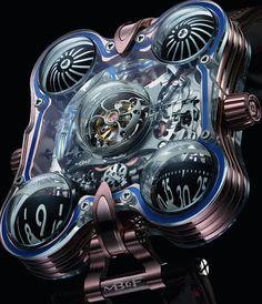 """MB&F HM6 SV 'Sapphire Vision' Watch Nears $400,000 - by Ariel Adams - see much more of this crazy thing on aBlogtoWatch.com """"In addition to recently offering more entry-level (relatively speaking) price points, MB&F is also upping their game on the super high-end. At SIHH 2016 MB&F will introduce the Horological Machine No. 6 SV which should be their most expensive watch yet with a price very close to $400,000. """"SV"""" stands for """"sapphire vision,"""" a concept MB&F introduced us to back in…"""