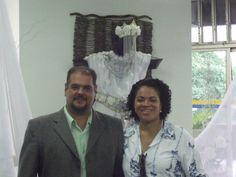 Flávia Pinto e Pai Marcos (TECAF) na posse do Conselhos de Guardiões do Sagrado e da Natureza