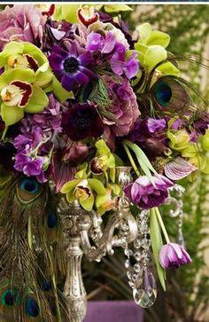 flowers & peacock