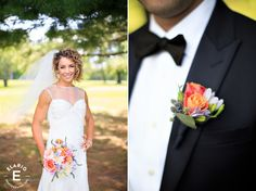 colorful boutonniere, orange and lavender boutonniere, texture #fleurtaciousdesigns -Elario Photography