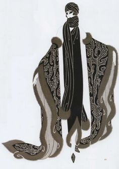 Costume Design for actress Aileen Pringle by Erté in the film The Mystic (1925)