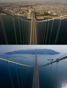 Akashi Kaikyo : A bridge 6x longer, 2x taller than Tokyo's Rainbow Bridge