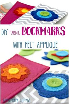 DIY fabric bookmarks with felt applique, a clever and simple scrapbusting idea for this book-reading season. These DIY bookmarks with felt applique are a quick and easy beginner sewing project, and they make wonderful personalized DIY presents for your loved ones. #sewing #sewingtutorial #beginnersewing #crafts #bookmark #diyproject #diy #howto #homedecor #diydecoration #diygifts #diypresent #backtoschool #reading #books #bookaddict