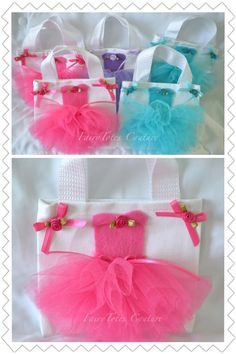 Princess Tutu Tote Party Favor Gift Bags - FairyTotes Couture on Etsy Ballerina Birthday Parties, Ballerina Party, Princess Tutu, Princess Party, Party Bags, Party Favors, Sewing Crafts, Sewing Projects, Diy And Crafts