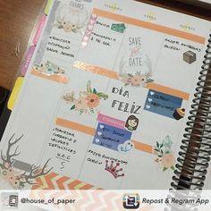 Domingo é o dia oficial de começar a planejar a semana! #meudailyplanner #dailyplanner #plannerlove #planneraddict