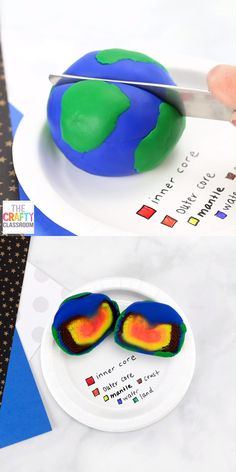 Layers of the Earth Project Is your student learning about the layers of the earth? Do you need some layers of the earth project ideas? This model of the layers of the Earth is not only colorful and eye-catching, but it requires very little material and Kindergarten Science, Science Classroom, Elementary Science, Montessori Science, Montessori Education, Preschool Social Studies, Social Studies Projects, Montessori Elementary, Montessori Materials