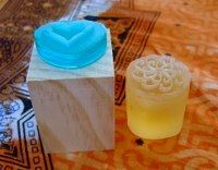 how to make your own soap stamp. Great troubleshooting tips at the bottom of the page.